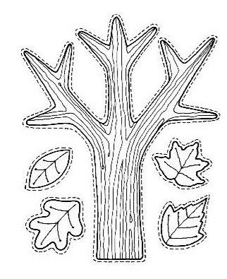 Arvore e folhas - Atividades para o Dia da árvore
