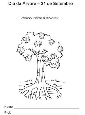 arvore 1 - Atividades para o Dia da árvore