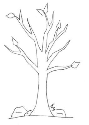 desenho arvore seca - Atividades para o Dia da árvore