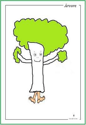 desenho de árvore - Atividades para o Dia da árvore