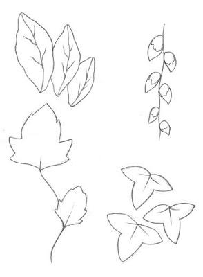 desenho de folhas para colorir desenho para pintar - Atividades para o Dia da árvore