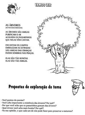 dia da arvore texto - Atividades para o Dia da árvore