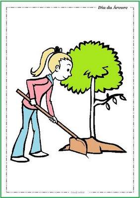 plantar árvores - Atividades para o Dia da árvore