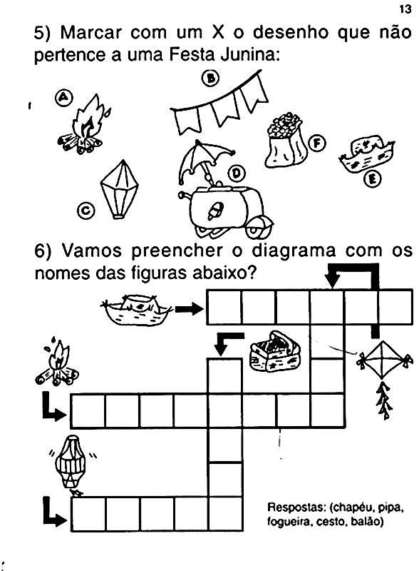 Atividades Sobre Festa Junina Educacao Infantil Mundinho Da
