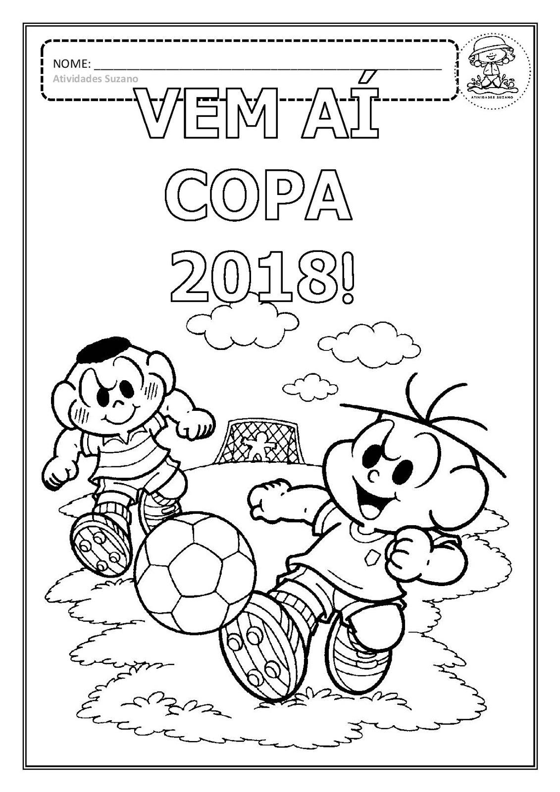 Desenhos Para Colorir Da Copa Do Mundo 2018 Mundinho Da Crianca