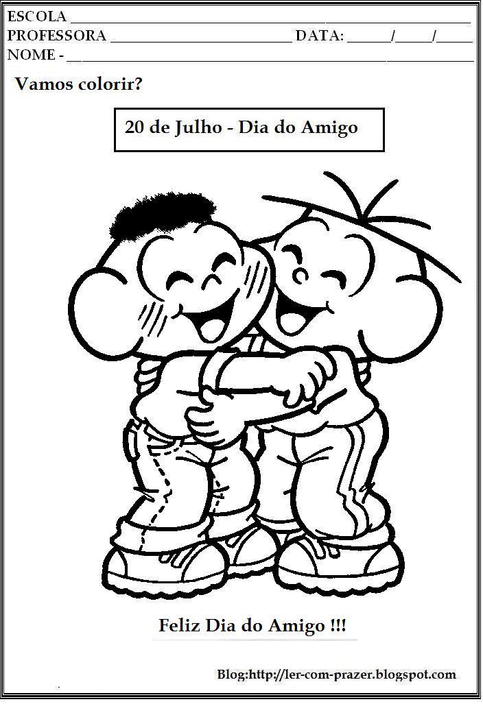 Desenhos Para Colorir Sobre O Dia Do Amigo 20 De Julho
