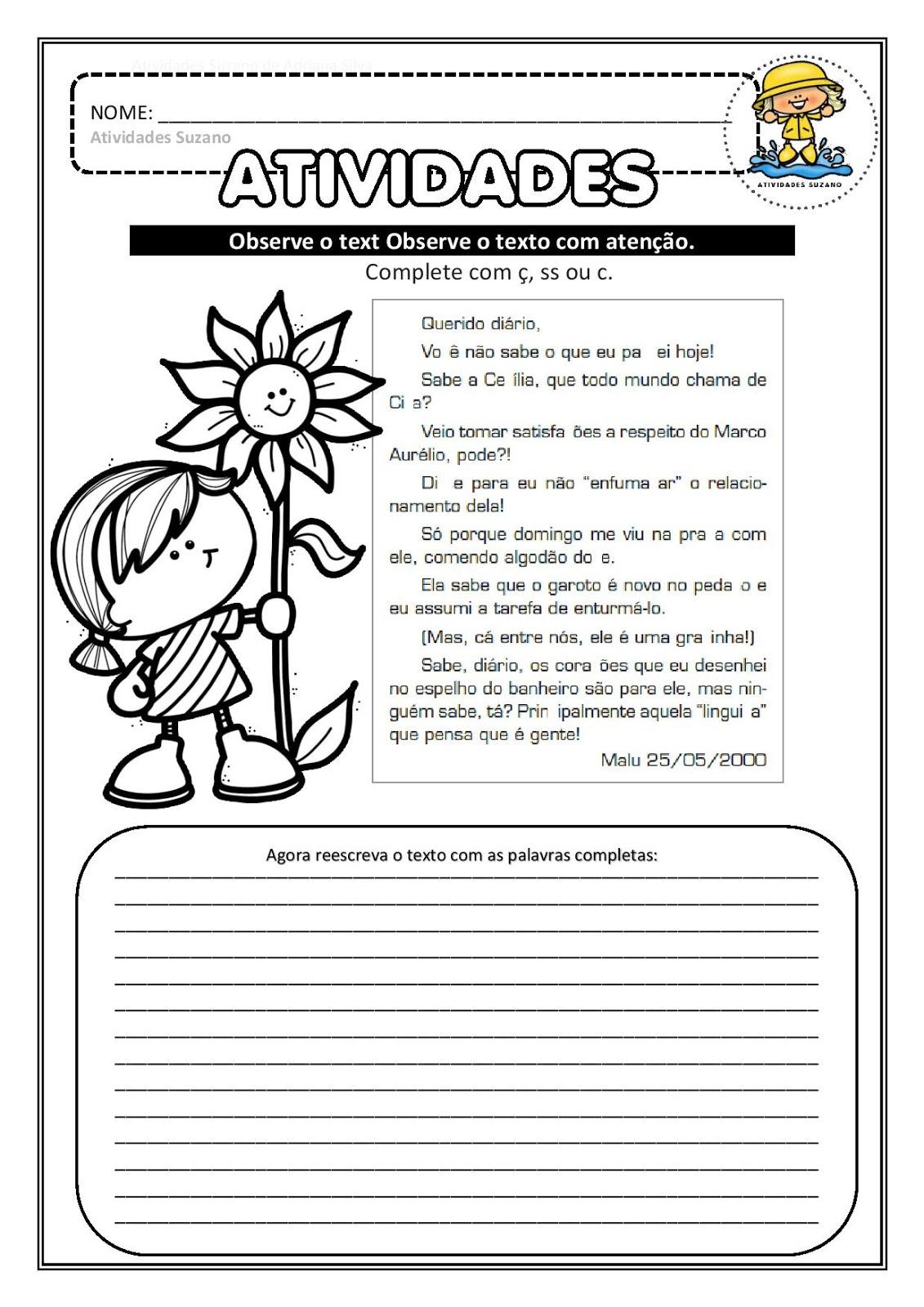 Diversas Atividades De Portugues Para Imprimir Anos Iniciais
