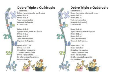 Atividades Com Dobro Triplo Quadruplo Quintuplo E Sextuplo Mundinho Da Crianca