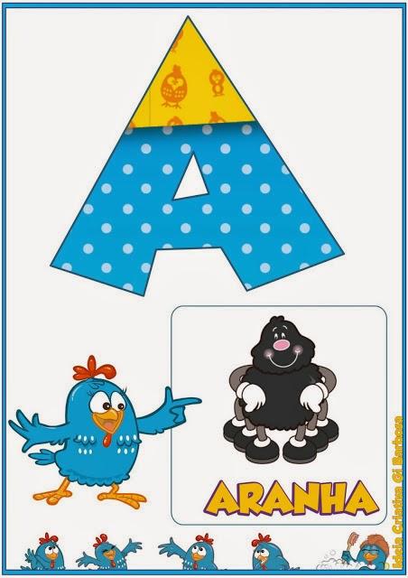 Alfabeto Da Galinha Pintadinha Para Imprimir Mundinho Da Crianca